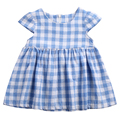 Summer Newborn Princess Infant Baby Kids Girls Short Sleeve Plaid Check Dress Party Gown Casual Dress