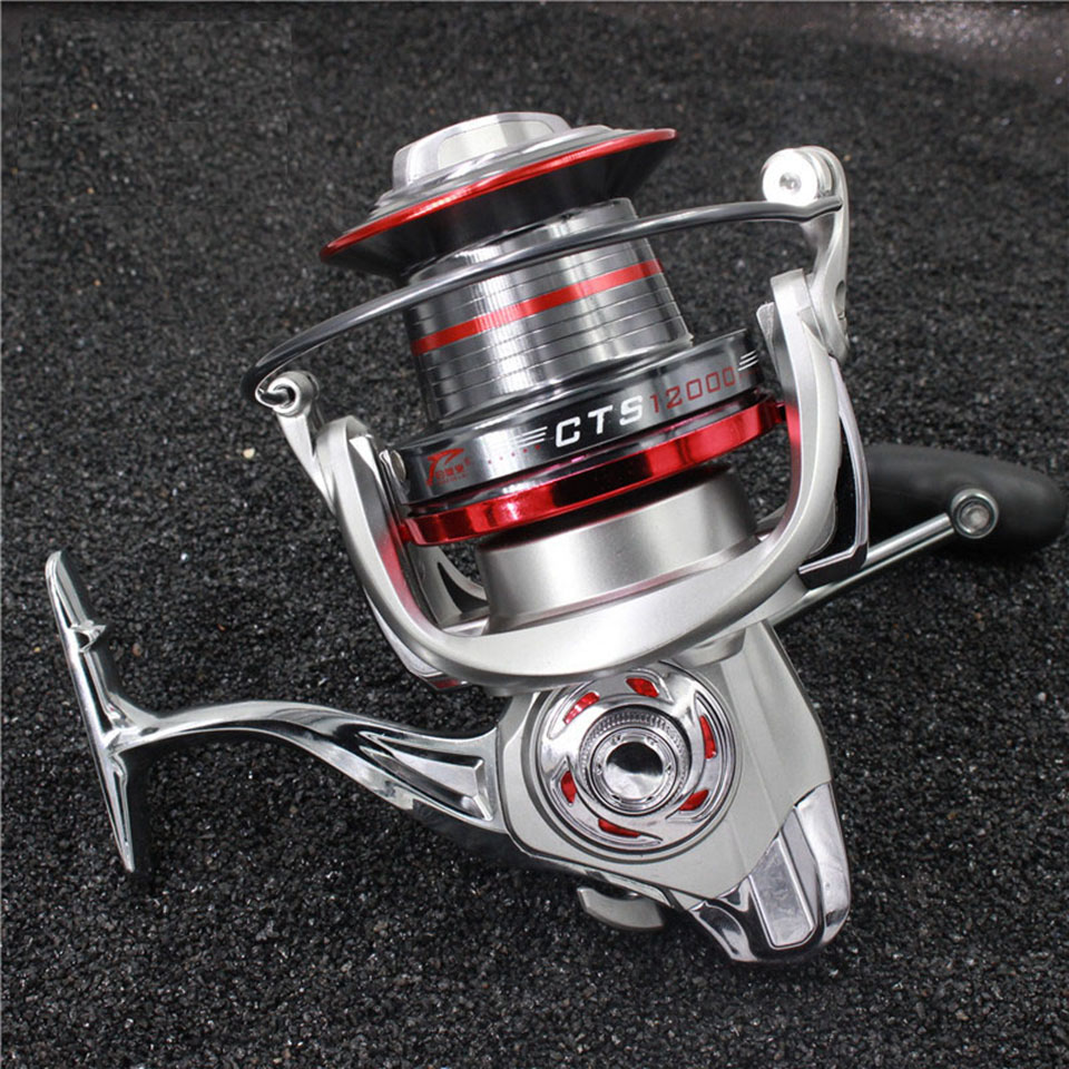 Full metal spool Jigging trolling long shot casting for carp saltwater surf spinning big sea fishing reel new type superior metal arm 13 1bb 4000 7000 series surf spinning fishing reels big long shot casting fly sea wire cup wheels