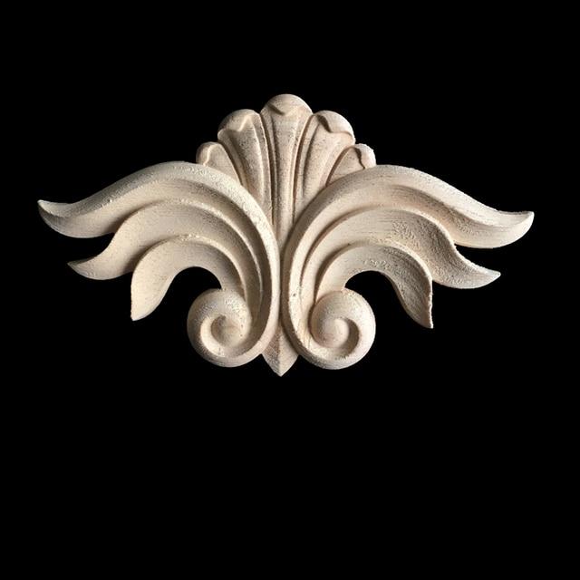 Antique Decorative Wood Appliques Furniture Decor Cabinet Door Irregular  Wooden Mouldings Flower Carving Figurine Craft - Aliexpress.com : Buy Antique Decorative Wood Appliques Furniture