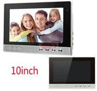 Luxury Door Phone 10 Inch TFT Monitor LCD Color Hands free Video DoorPhone Intercom 5 years quality/free repair warranty