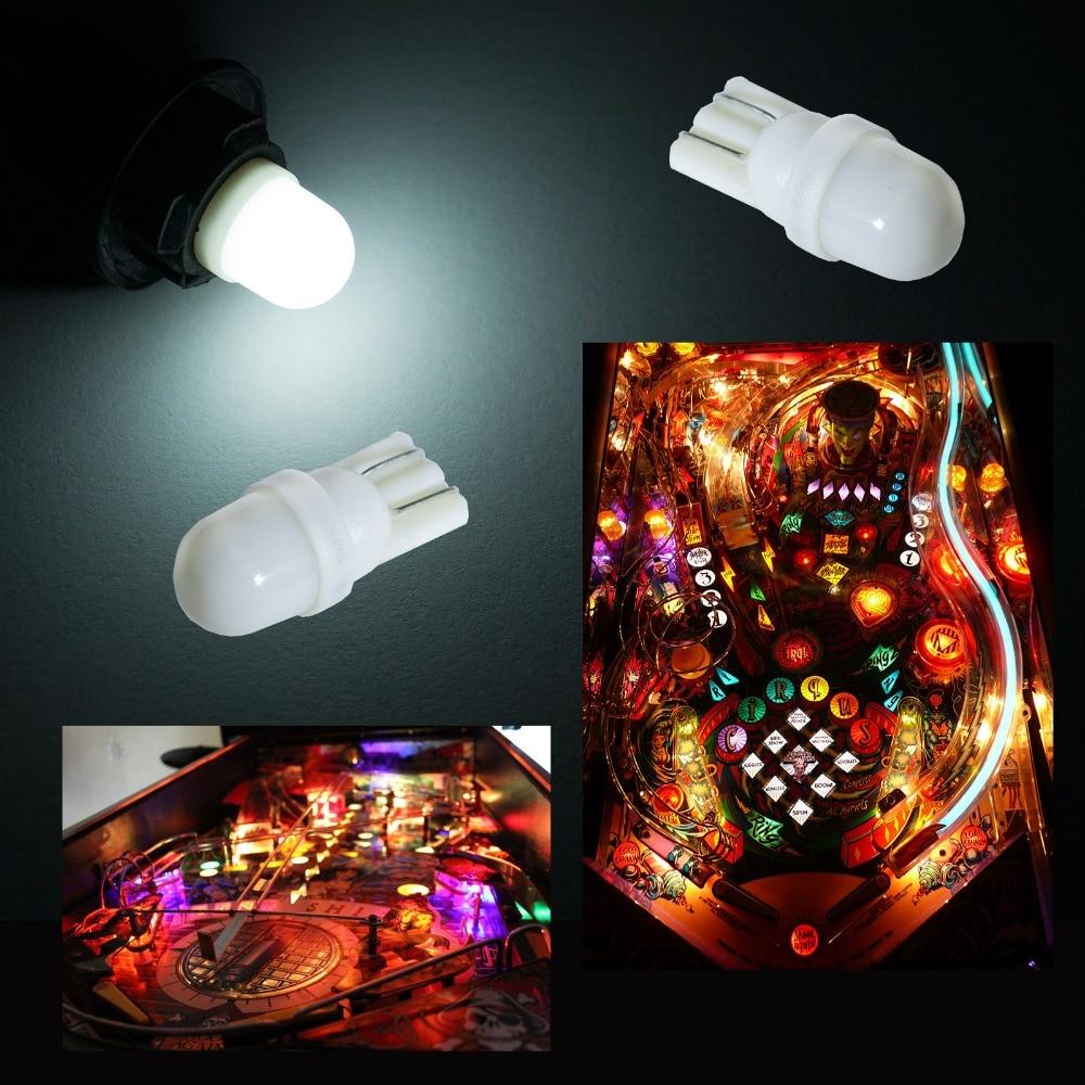 PA LED 50 pièces x 2SMD 2835 LED Flipper Voyant Tableau De Bord Couleur Blanche D'ampoule 6.3 V Dépoli T10 W5W 168 194