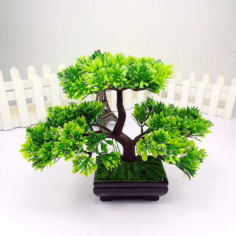 Buy 1pc welcoming pine emulate bonsai for Artificial plants for decoration
