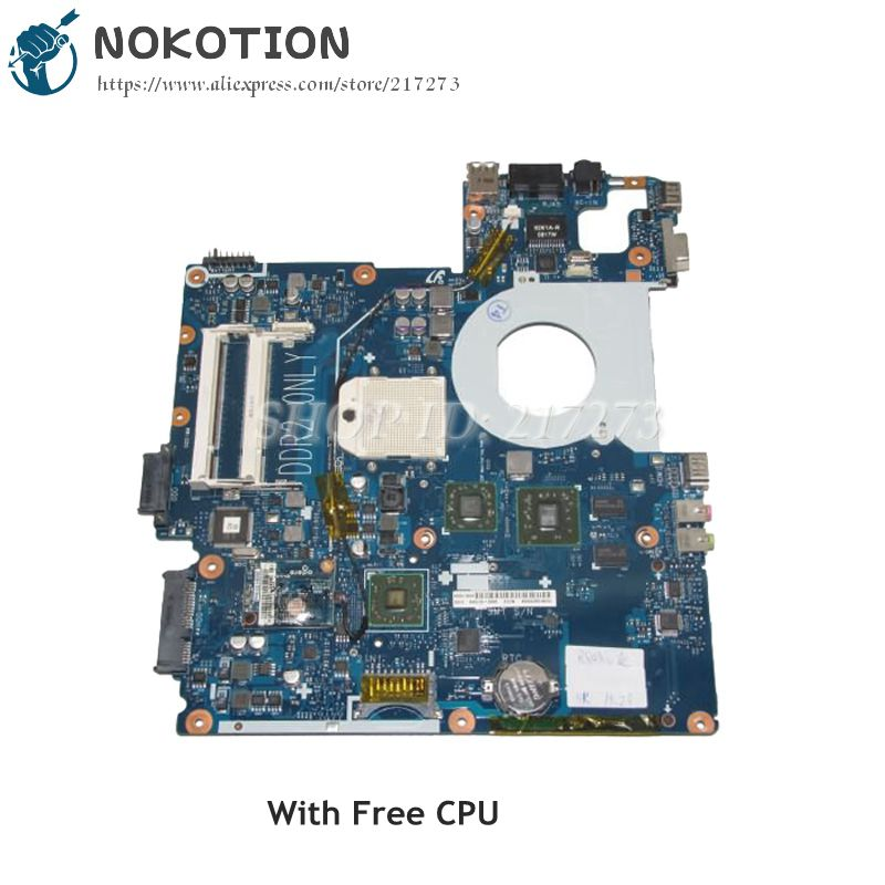 NOKOTION For Samsung NP-R503 R503 NP-R505 R505 Laptop Motherboard DDR2 HD3470 Free CPU BA92-05154A BA92-05223A BA92-05223B ba92 05907b ba92 05907a notebook pc motherboard for samsung r505 main board sockets1 ddr2 ati discrete graphics free cpu