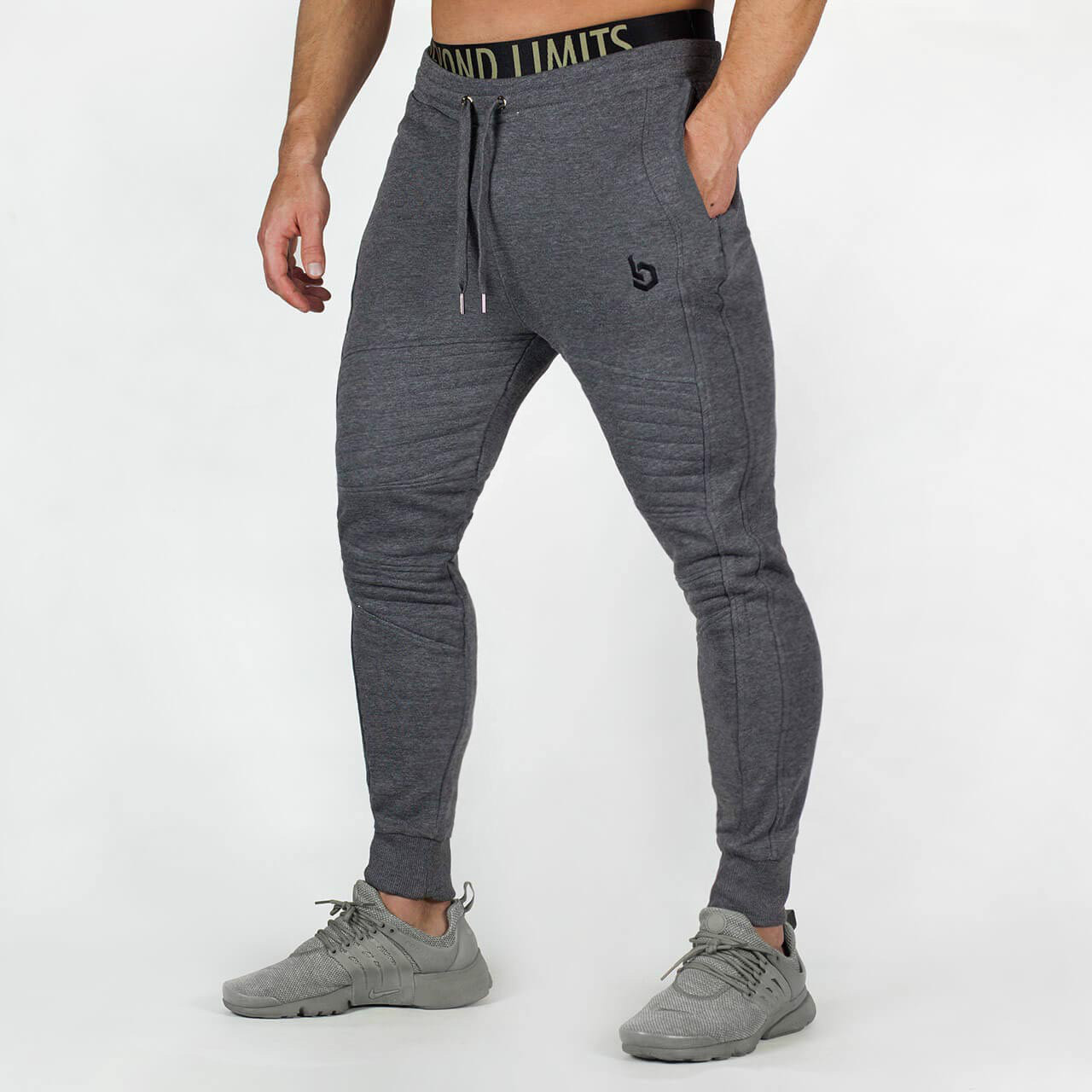 Mens Sweat Pants Brand Male Trousers Casual Pants Sweatpants Jogger Gray Casual Elastic Cotton GYMS Fitness Workout Pants