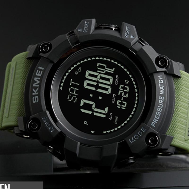 619b07b679d Homens Relógios Desportivos SKMEI Marca Pressão da Contagem Regressiva do  Relógio Horas Altímetro Bússola Termômetro Digital Ao Ar Livre Relógio de  Pulso ...