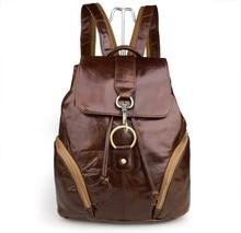 Promotion High Quality Real Genuine Leather Cowhide Women Backpack Travel Bags Girl School Backpacks Casual Bolsas #VP-J7286