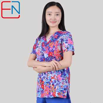 NEW 201803 Hennar Brand medical scrub tops surgical scrubs,scrub uniform 100% print cotton christmas design medical uniforms - DISCOUNT ITEM  30% OFF Novelty & Special Use