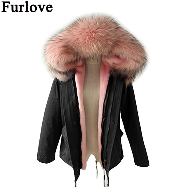 Furlove Long Winter Jacket Women Large Raccoon Fur Hooded Coat Parkas Outwear Detachable Lining Fashion Brand Free DHL Shipping настенная плитка porcelanosa oxford liston natural 31 6x90