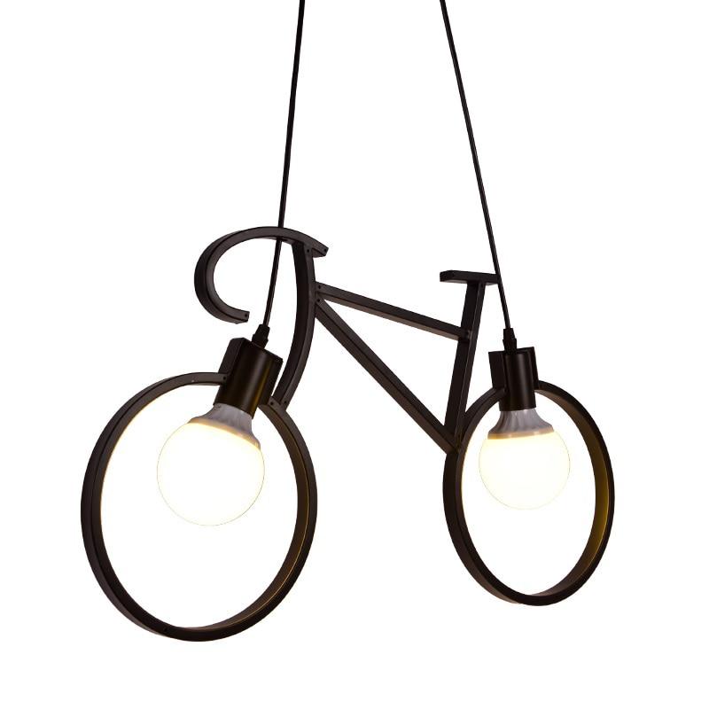 ZX Northern Creative Bicycle Pendant Light Bedroom Dining Room Lamps Bike Pendant for Children Modern LED Lighting Fixture handmade modern aluminum moon star pendant light lamp for kid children room bedroom lustres decorative fixture lighting pll 625