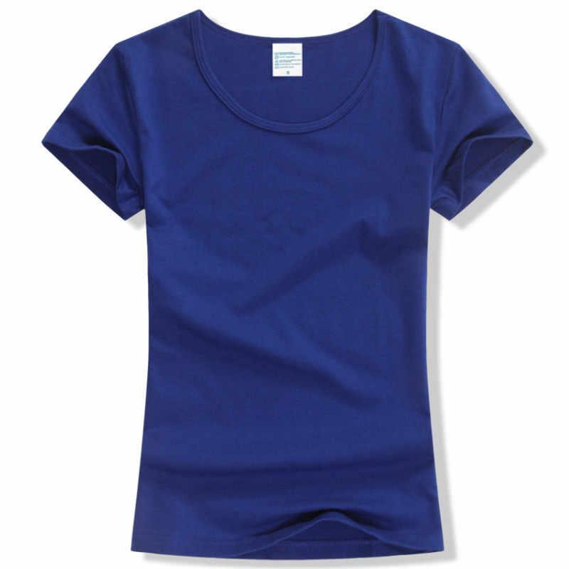 95e06d90e451c ... 2017 Summer High Quality 15 Color S-2XL Plain T Shirt Women Cotton  Elastic Basic ...