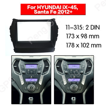 2 DIN 11-315 Car Radio stereo Fitting installation adapter fascia For HYUNDAI iX-45, Santa Fe 2012+ frame Audio