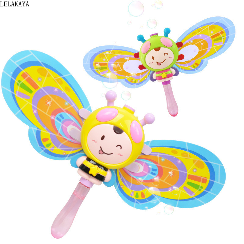Kinder Spielzeug Bubble Electric Light Music Automatische Magic Stick Kinder