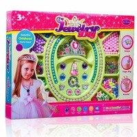Dziewczyny Rzemiosła-Korona Naszyjnik Bransoletka Pierścień Serpentynę Świąteczne Prezenty Dla Dzieci DIY Zabawki (3315)