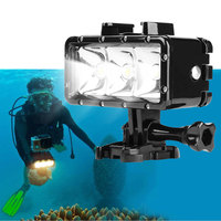 Waterproof LED Diving Fill Light 30M Underwater High Power Dimmable For GoPro Hero 5 4 Black