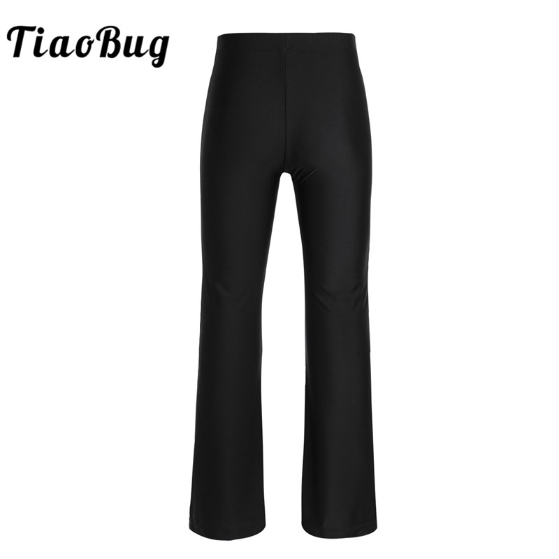 TiaoBug Kids Teens Black Basic Classic Stretchy Loose Gym Sports Pants Dance Wear Girls Child Dance Practice Jazz Dance Costume
