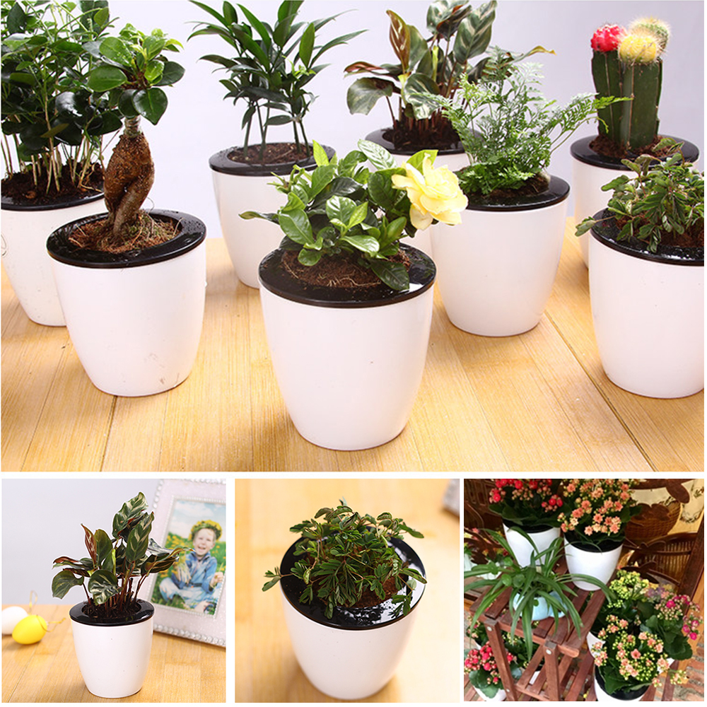 Durable Plastic Vase Flower Pot Plants Basket Home Office Living Room Decoration