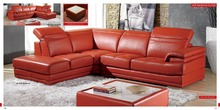 designer modern style top graded cow genuine leather sofa sectional corner living room home furniture shipping to port