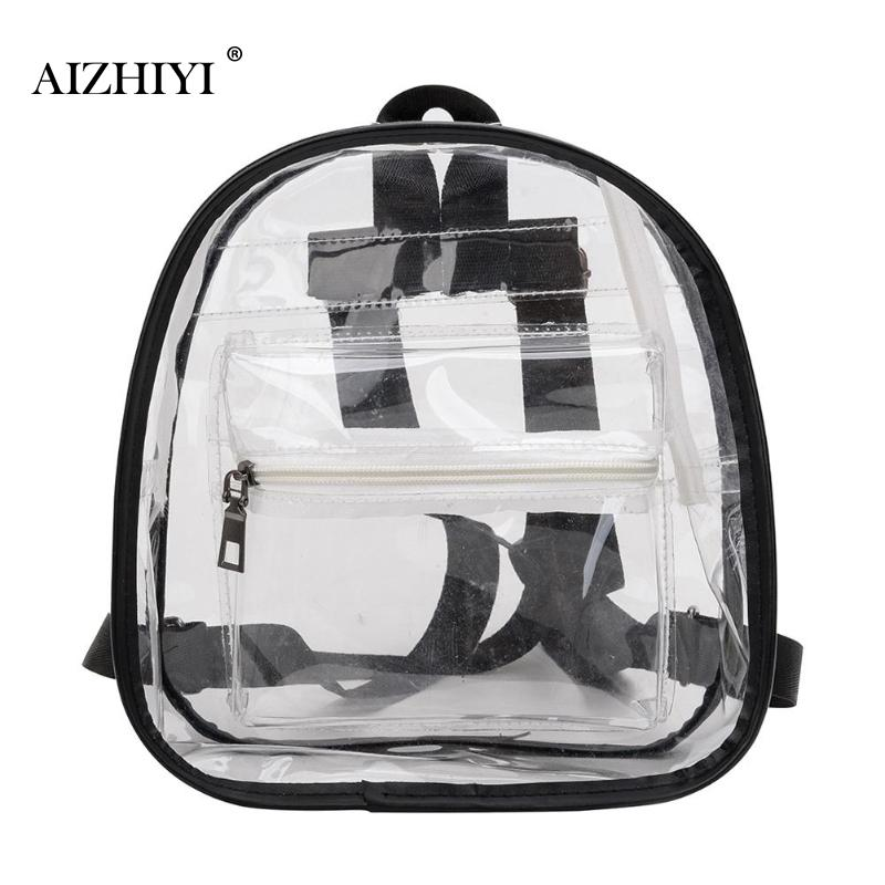 Clear Transparent  Backpack Women Shoulder Bags For School Mini Backpack Schoolbags For Teenage Girls Fashion Bookbag mochilaClear Transparent  Backpack Women Shoulder Bags For School Mini Backpack Schoolbags For Teenage Girls Fashion Bookbag mochila