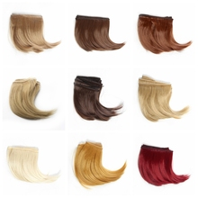 1piece 10cm Black Gold Brown Khaki White Grey Color Long Curly High Temperature Hair Doll For 1/3 1/4 BJD Diy