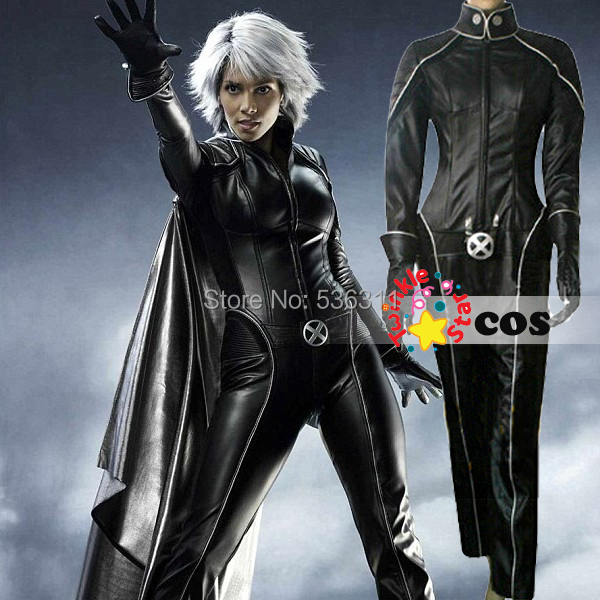 X men origins Ororo Munroe cosplay costume adult leather Jumpsuits X,men Halloween costumes for
