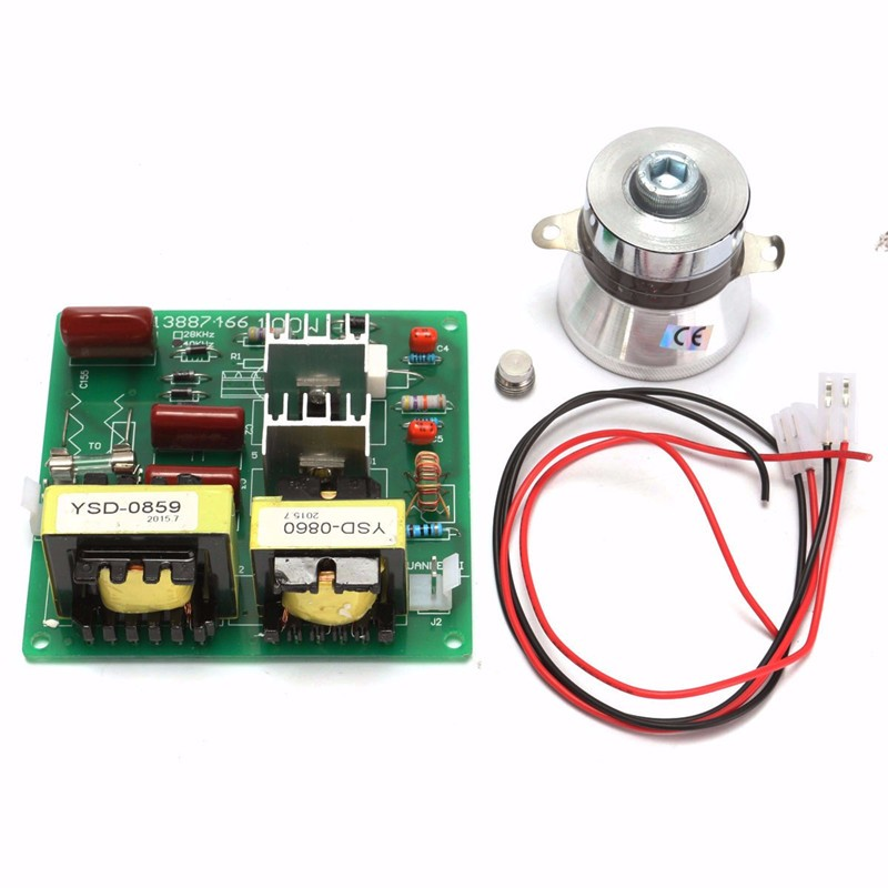 New Ac 110v 100w 40k Ultrasonic Cleaner Power Driver Board+1pcs 60w 40k Transducer For Ultrasonic Cleaning MachinesNew Ac 110v 100w 40k Ultrasonic Cleaner Power Driver Board+1pcs 60w 40k Transducer For Ultrasonic Cleaning Machines