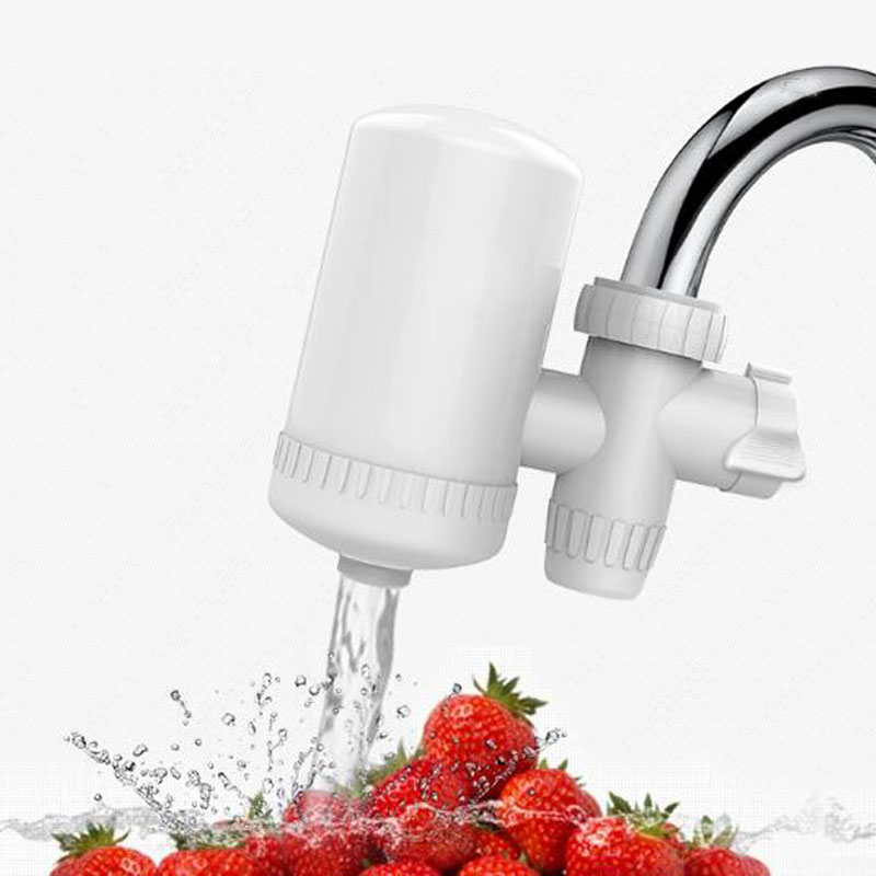 Hight Technology  Healthy Ceramic Cartridge Tap Faucet  Water Activated carbon Filter Purifier Health white for Home Kitchen