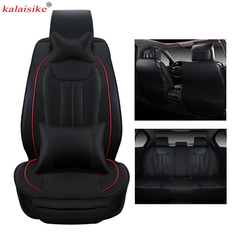Kalaisike cuir universel housses de siège de voiture pour Mercedes Benz tous les modèles c200 w212 A180 B200 c300 E classe GLA GLE GLK CLA S500