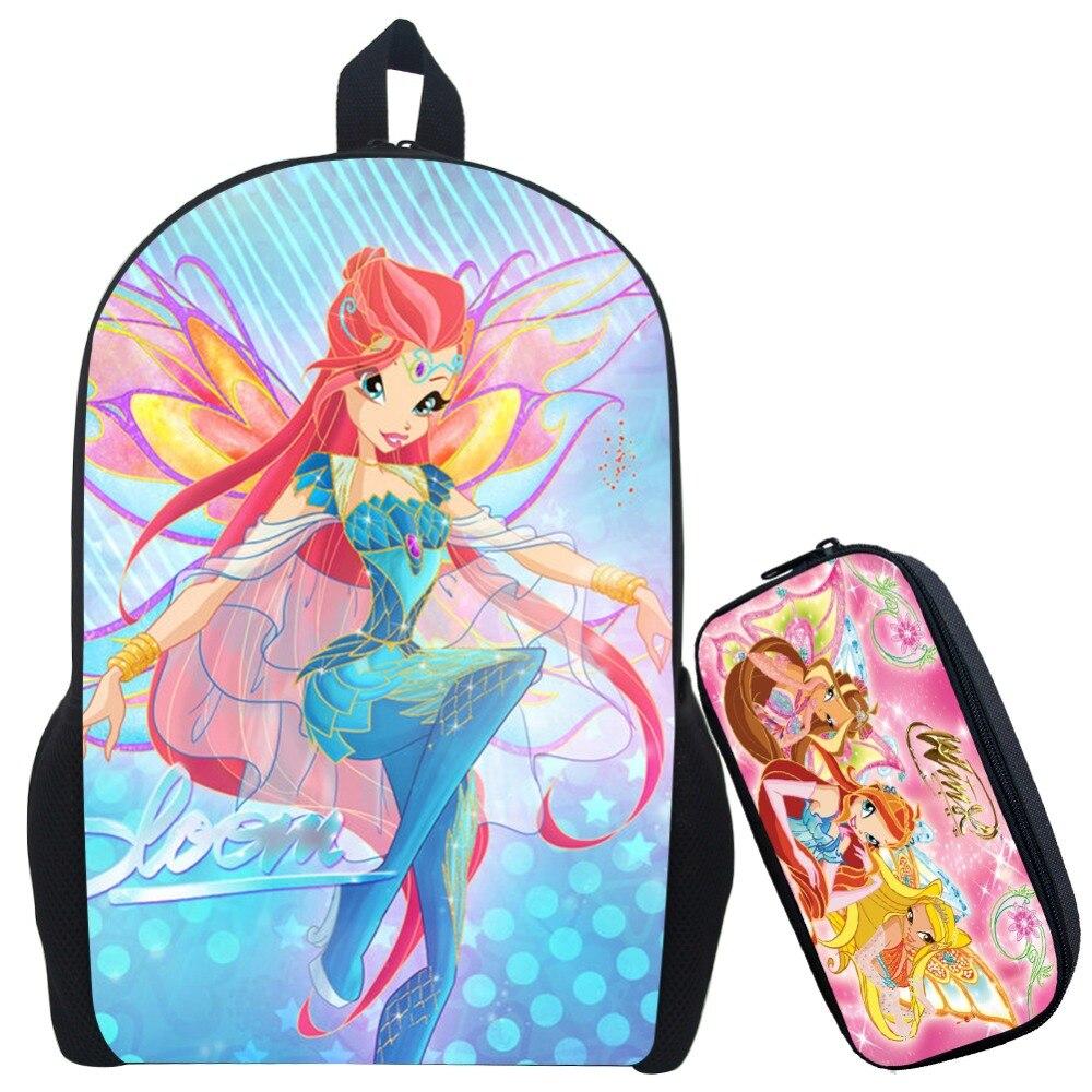 c2e8220455 17 pouces Winx Club filles sac à dos pour les adolescentes filles bande  dessinée sac d'école enfants impression école sacs à dos cadeaux pour  anniversaire ...