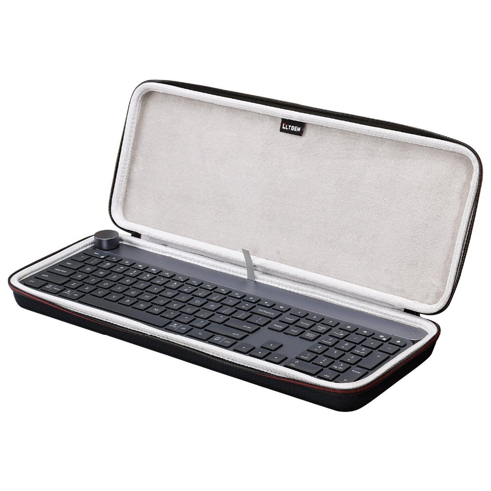LTGEM Travel Carrying Case Protective For Logitech CRAFT Wireless Keyboard Travel Protable Storage Case
