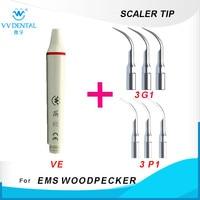 Dental scaling machine ultrasonic scaler handpiece and dental ultrasonic scaler tip for woodpecker tooth whitening