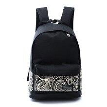 2016 старинные печати женские парусиновые школьные рюкзаки для девочек-подростков школьные сумки водонепроницаемые Mochilas escolares Новая мода