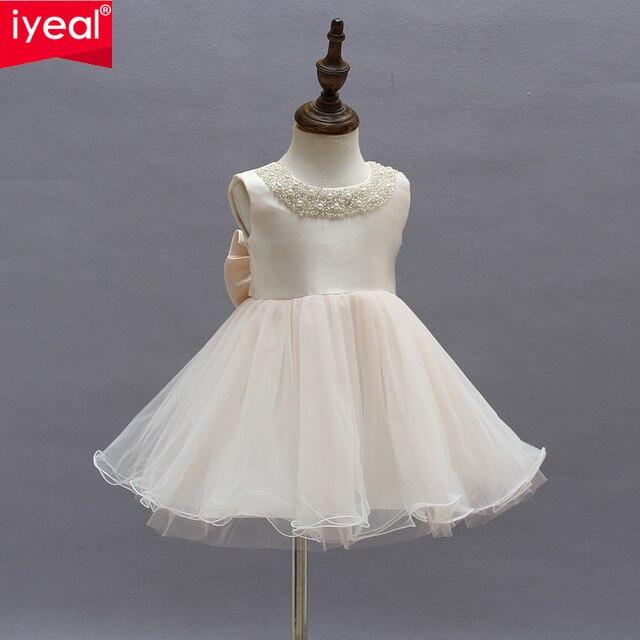166d57362c61f IYEAL fleur filles robe pour mariage et fête infantile princesse petite fille  robes enfant en bas