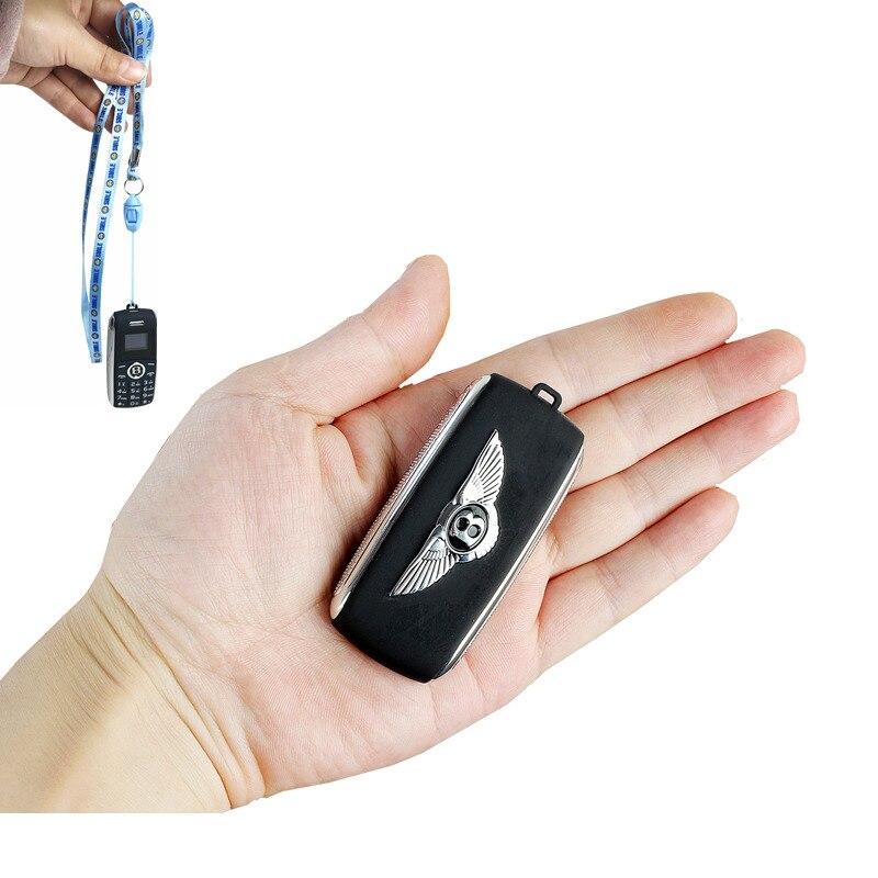 Mini bluetooth Discador de Telefone gravador de voz mágica uma chave telefone celular Dual Sim celular pequeno telefone móvel língua Russa