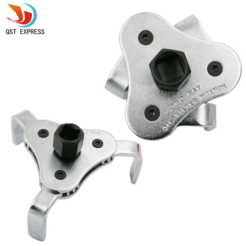 Car Repair Tools Adjustable Two Way Oil Filter Wrench Tool with 3 Jaw Remover Tool for Cars Trucks 66-116mm