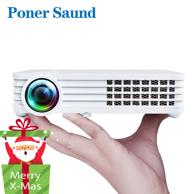 Best Offers Poner Saund DLP900WIFI Shutter 3D Handheld Portable Mini Projector Optional Android Bluetooth WIFI Home Theatre Support HD1080P