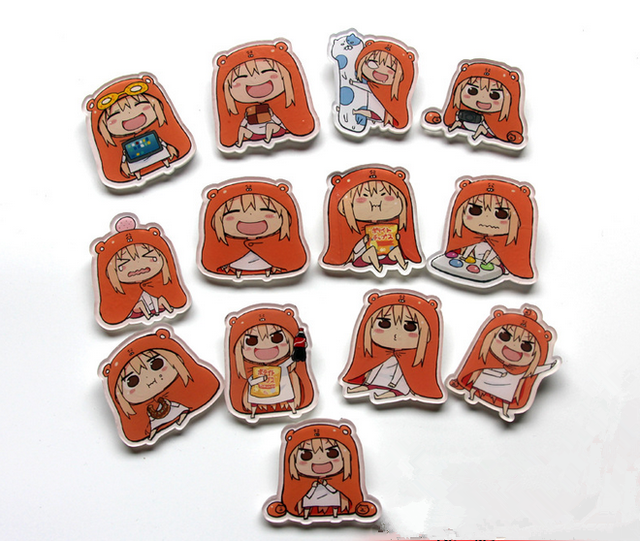 6pcs Set New Fashion Cute Cartoon Girl Brooches 13 Styles Dry Matter Younger Sister Badge