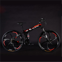26 Inches Folding Mountain Bike 21\/24\/27 Speed Six Knife Wheel Double Disc Brake for Adult