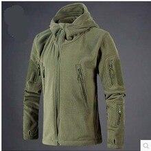Новая военная тактическая уличная мягкая оболочка флисовая куртка мужская армейская Polartec Спортивная термальная охотничья спортивная куртка с капюшоном