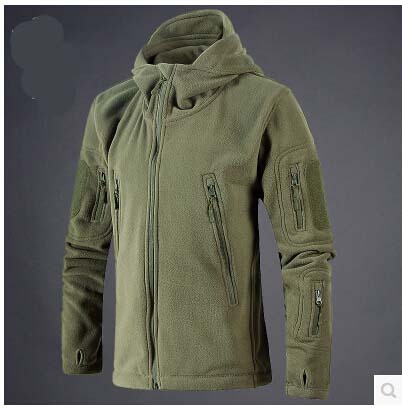 Fleece Jacket Sportswear Hoodie Soft-Shell Army-Polartec Hunt Tactical Hiking Outdoor title=