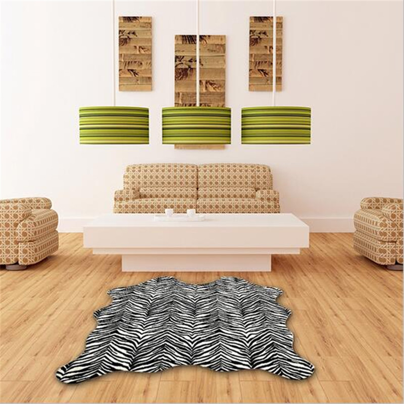 Big Size Fashion Factory Price COW ZEBRA CARPET AND RUG FOR LIVING ROOM  CARPETS AND RUGS