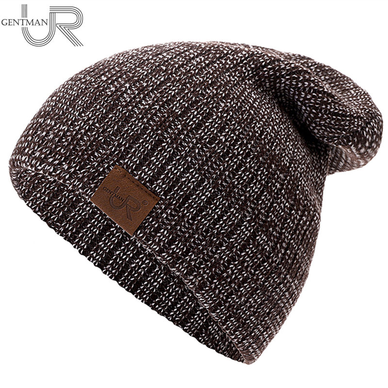 New Unisex Hat URGENTMAN Casual Beanies For Men Women Hip-hop Knitted Winter Hat Male Acrylic Crochet Ski Beanie Hat Female Cap(China)