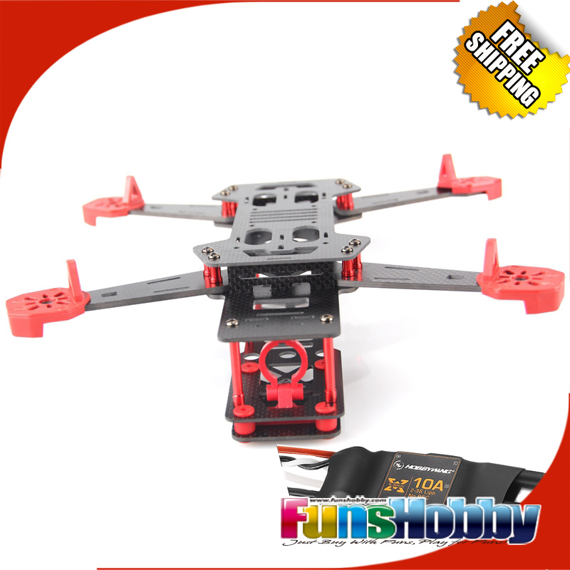 FPV-265 265mm Wheelbase 4Axis Carbon Fiber Quadcopter Frame w/Landing Gear & Hobbywing Xrotor 10A Brushless ESC