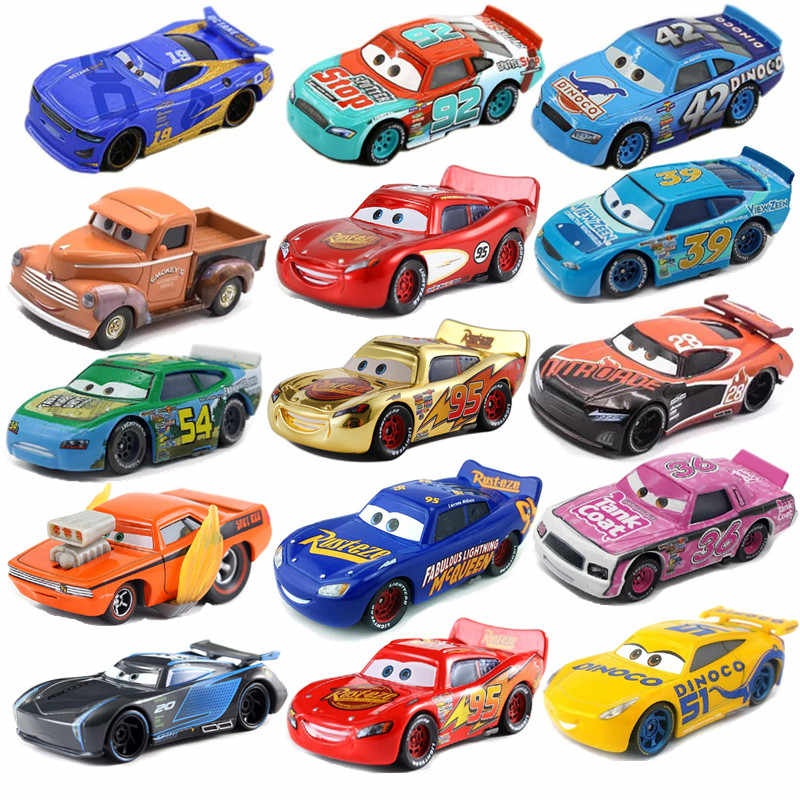 Disney Pixar Car 3 toy car McQueen 39 kind 1:55 die-cast metal alloy model toy car 2 children birthday / Christmas gift