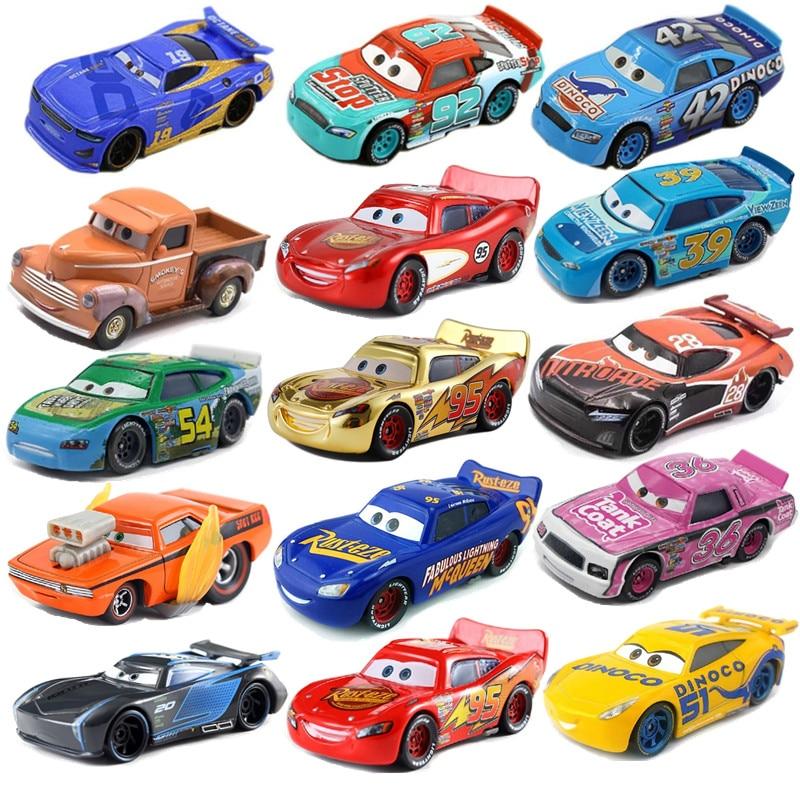 Disney-Coche de juguete de Pixar 3 McQueen 39, tipo 1:55, modelo de aleación de metal fundido a presión, coche de juguete para 2 niños, regalo de cumpleaños/Navidad