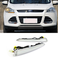 With Yellow Turning Function 12V Car DRL LED Daytime Running Light For Ford Kuga Escape 2014