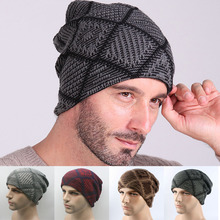 Sale 1 Pc Unisex Autumn Winter Warm Soft Knitted Hat Plaid Wool Cap Clothing Accessories Gift 6 Colors