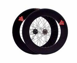 Cố Định Bánh Răng 90 Mm Viền 70 Mm Hợp Kim Nhôm Kiểu Lật Wheelset Xe Đạp Đường Bộ Wheelset Fixie Xe Đạp Wheelset với Lốp Xe