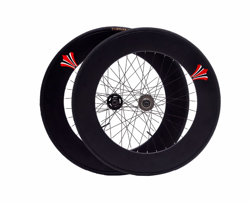 Fixed Gear wheel 90mm rim 70mm aluminum alloy  flip-flop wheelset road bike wheelset fixie bike wheelset with tires