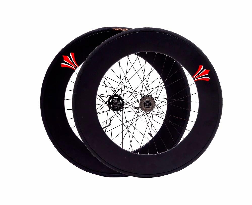 Fixed Gear Wheel 90mm Rim 70mm Aluminum Alloy  Flip-flop Wheelset Road Bike Wheelset Fixie Bike Wheelset With Tires