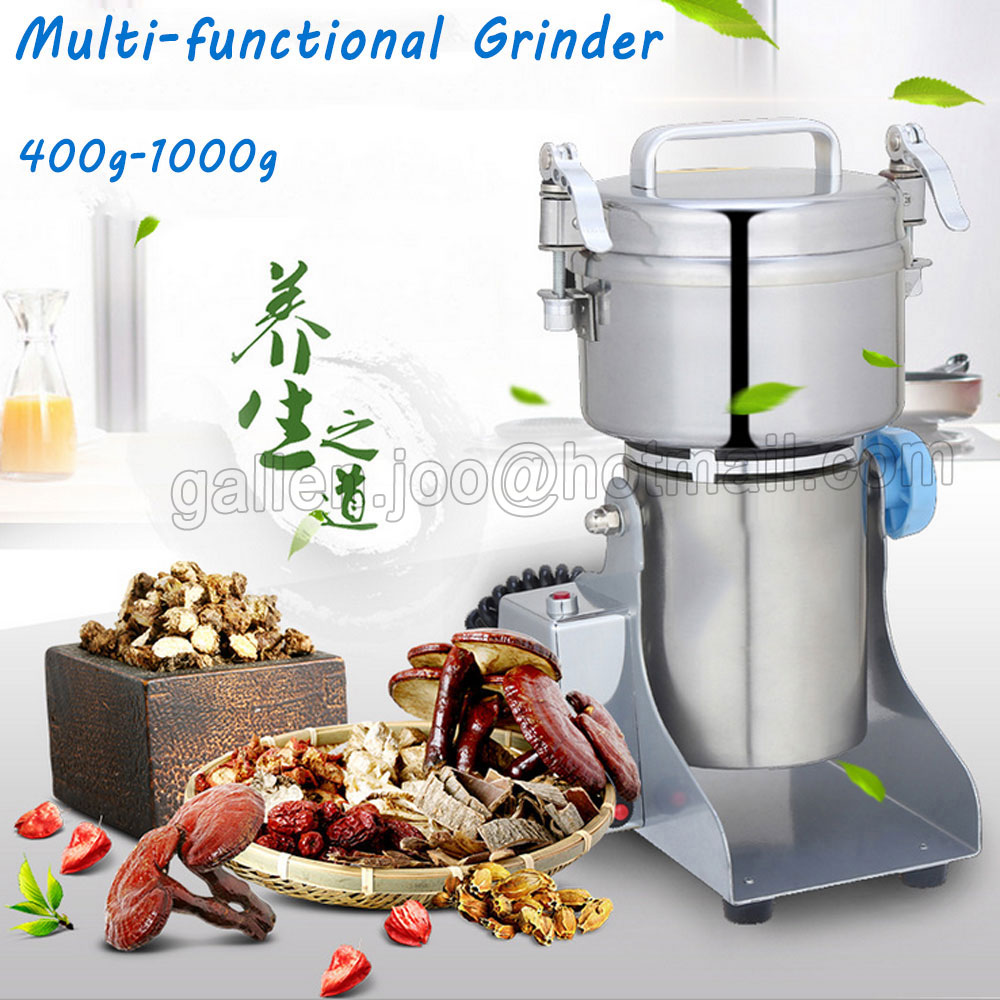 1* High quality 400G Swing Type Portable Grinder Dry Food Materials Pulverizer Grain Herb Coffee Mill Grinding Power Machine grain grinder 1000g mill powder machine swing type electric grains mill grinder for herb pulverizer food grade stainless steel